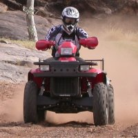 Quad Riding on Bond Springs, outside Alice Springs
